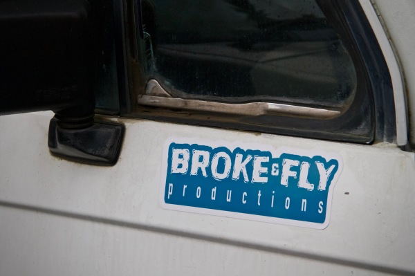 Broke & Fly Productions Sticker (Large)