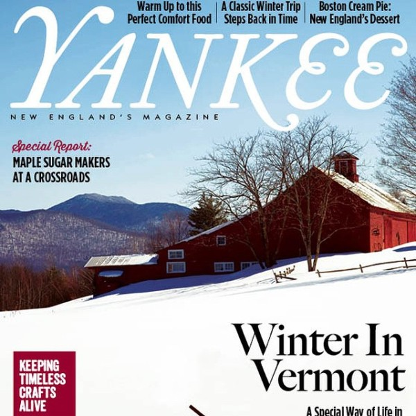 Winter In Vermont, Yankee Magazine Cover 2015