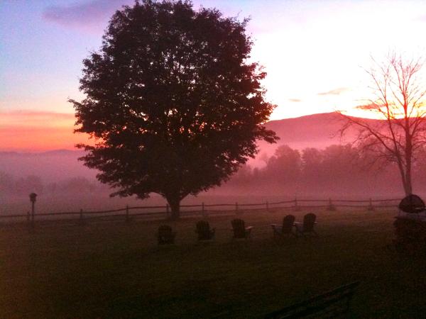 Elmore sunrise with charis
