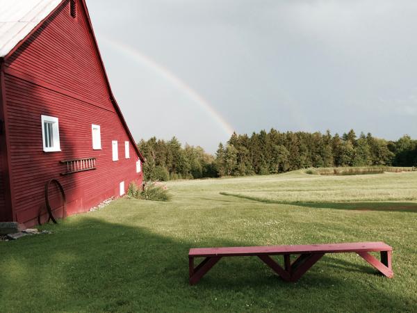 April shower rainbows