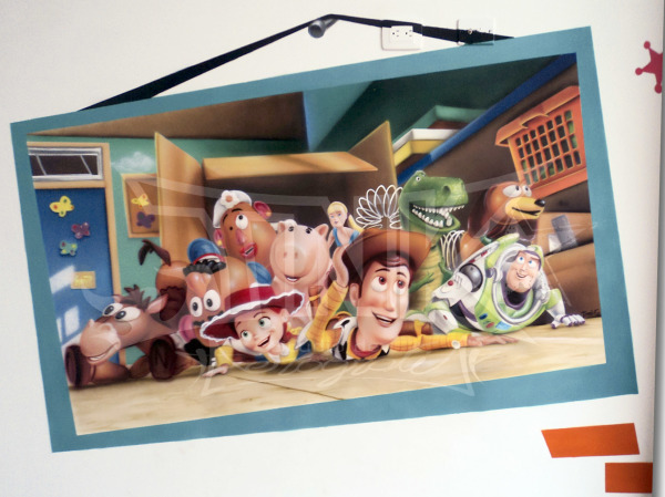 mural toy story cuadro