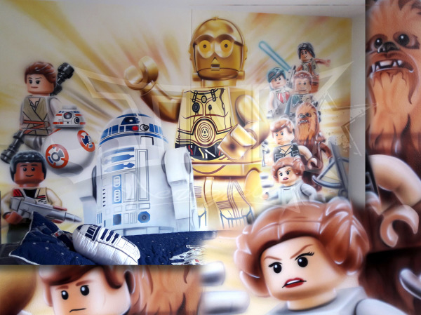 mural star wars lego
