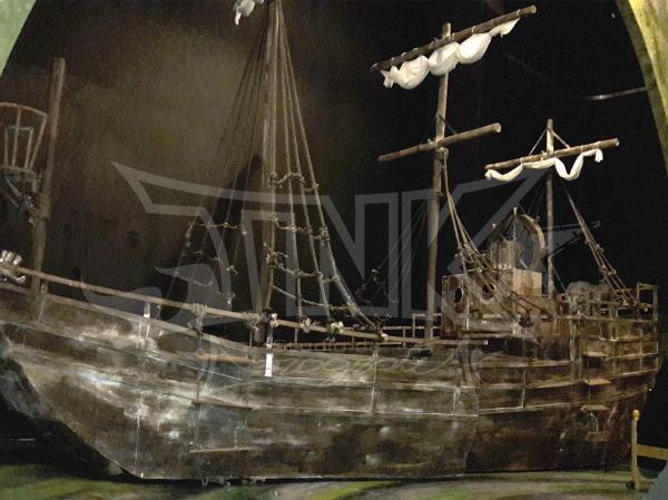 envejecido barco