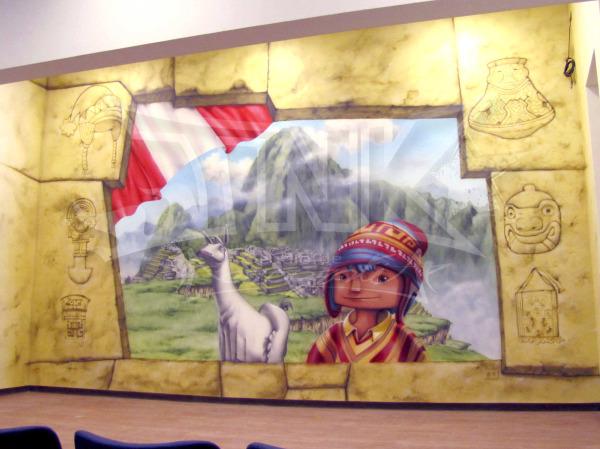 mural en peru