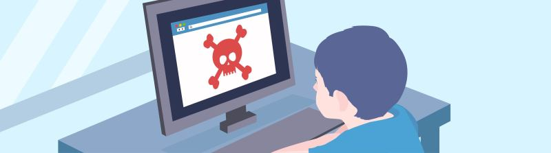 Children can face different dangers while being online.