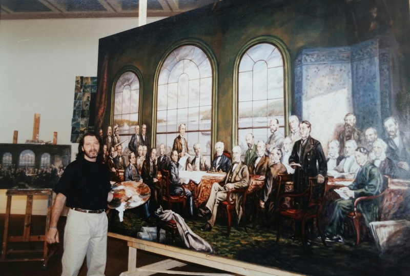 Painting Fathers of Confederation