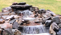 Double waterfall water feature