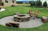 cozy fire pit area