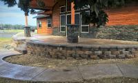 concrete porch and sidewalk