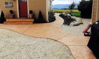 tinted concrete sidewalk
