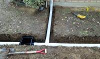 rain gutter drainage system