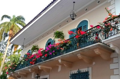 Balconies of a restored building