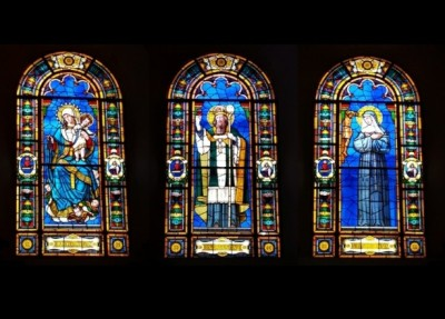 Stained glass at St. Joseph Church