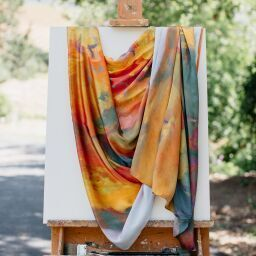 silk scarves, a healdsburg, art on scarves