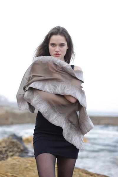 handmade silk scarves, silk and wool scarves, christa louise