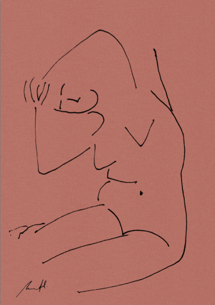 Yoga Croquis Art Print by George Sand Studio