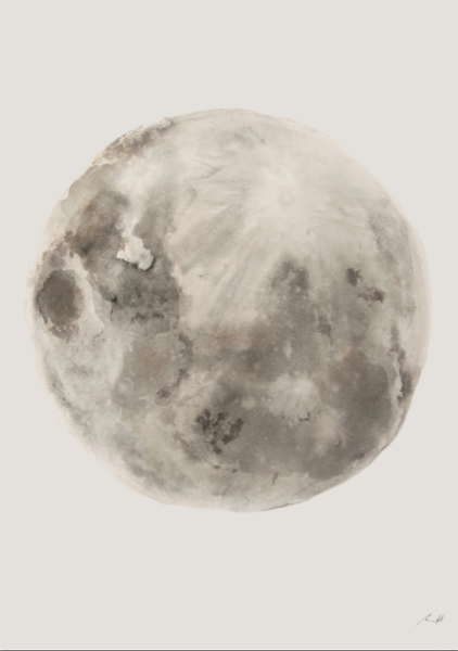 Ink Moon Art Print by George Sand Studio