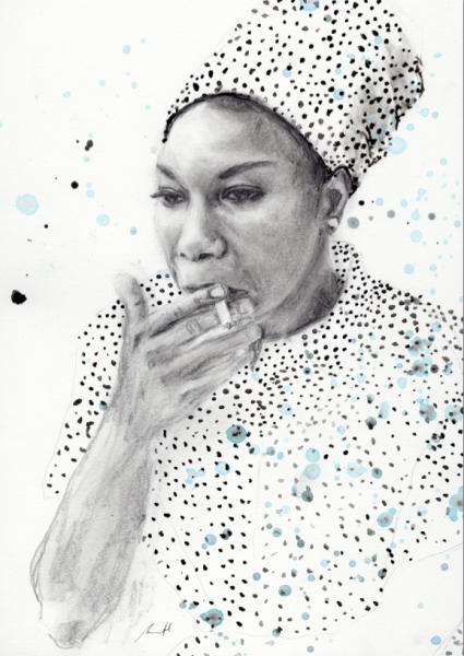 Nina Simone Art Print by George Sand Studio