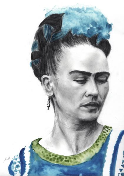 Frida Kahlo Art Print by George Sand Studio