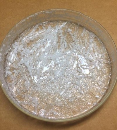 White Gold Crystal to be pulverized and turned into White Powder Gold
