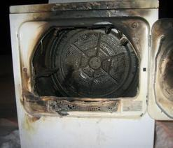 Inspection in a Des Moines home reveals a dryer vent fire.