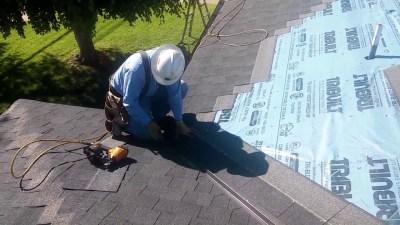 Shingle roofing.