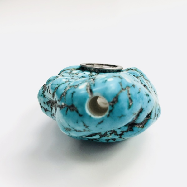 """alt= """"genuine turquoise pipe authentic crystal smoking pipe"""""""