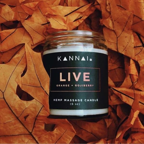 "alt= ""kannai cbd candle live"""