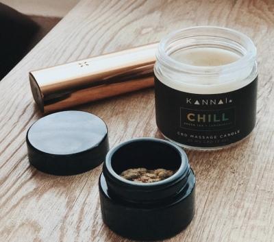 "alt= ""kannai cbd massage candle relax"""