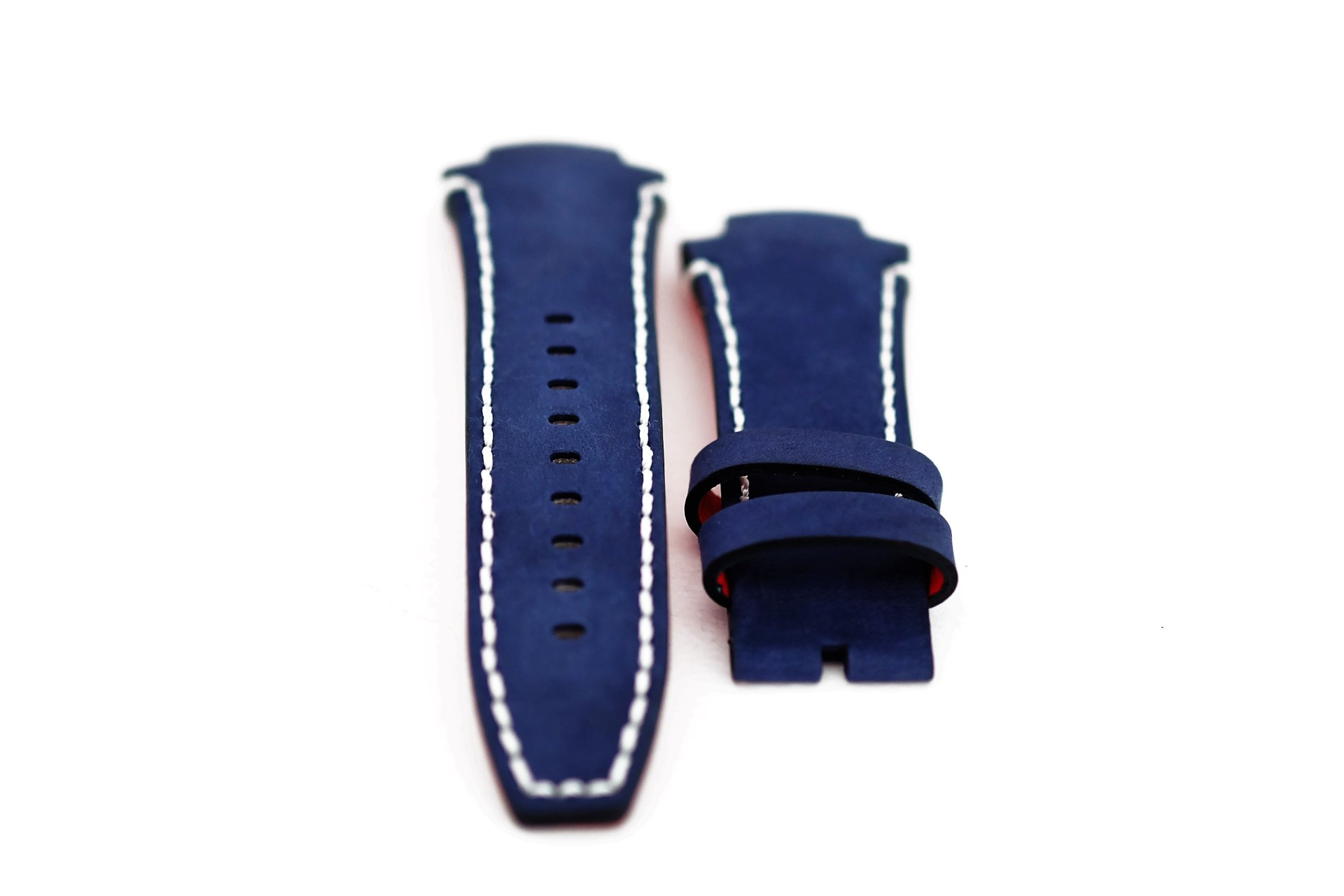 46-Navy Blue Nobuk Leather