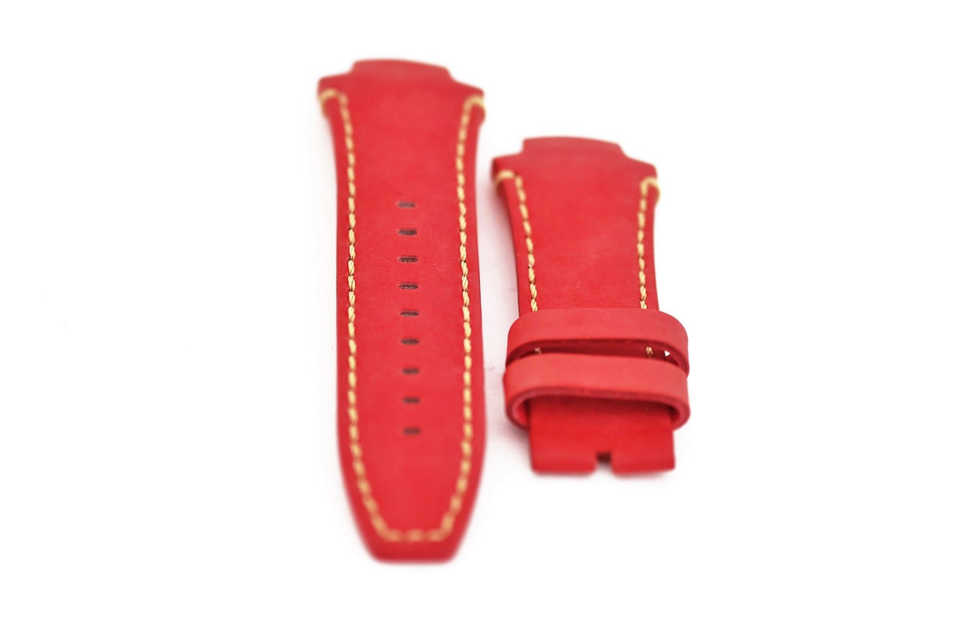 46-Red Nobuk Leather