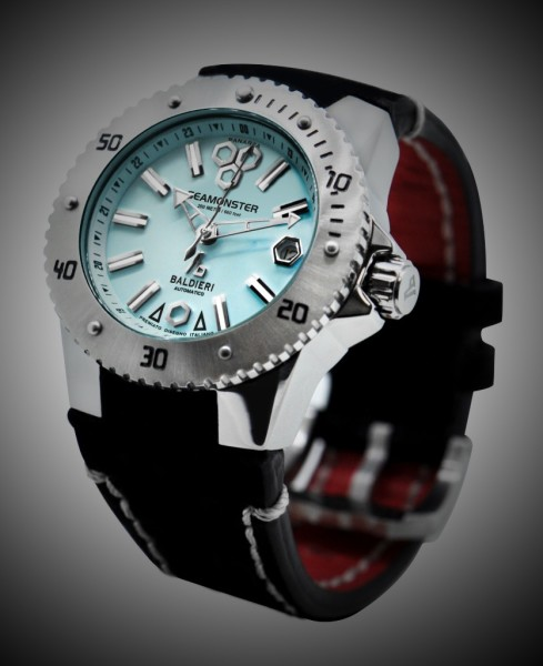 inox, seamonster, alessandro baldieri, lady watch, 38mm, black dial, diving watch,