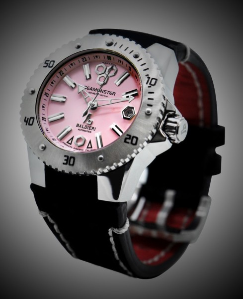 inox, watches, seamonster, alessandro baldieri, lady watch, 38mm, black dial, diving watch,