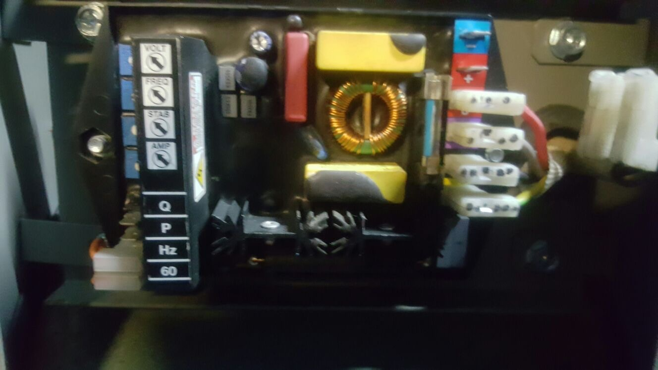 Marelli AVR with intermittent voltage stability fault