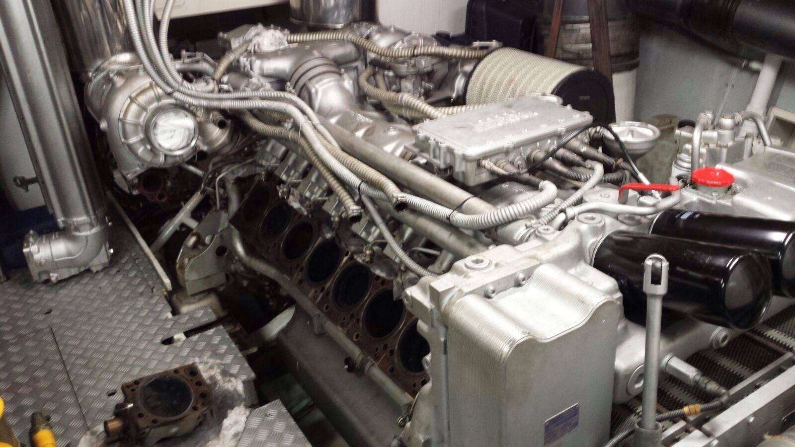 Another MTU Detroit. Heads off for maintenance