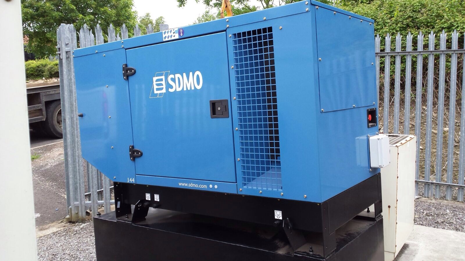 New Generator with secure 24hr fuel tank in bund under genset - designed by GEMS