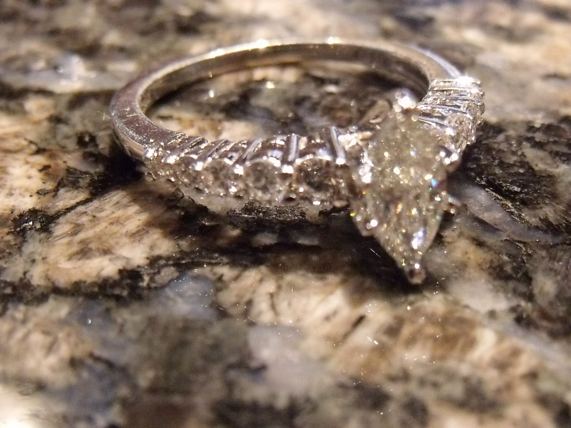 Maquise Cut Engagement Ring