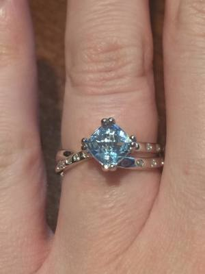Blue Topez Engagement Ring