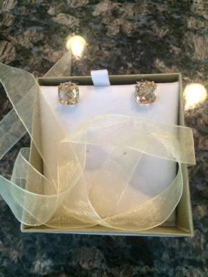 Cushion Cut Citrine Earrings