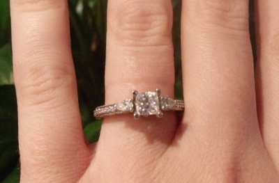Princess Cut with Pear Sides Engagement Ring