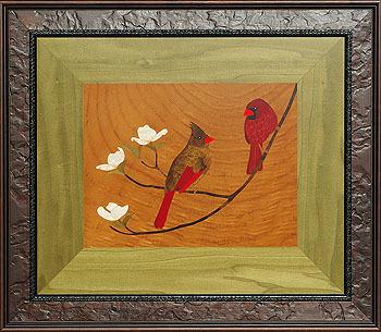 Cardinals on Dogwood Sprig