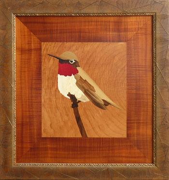 D313 Ruby Throated Hummingbird