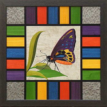 D324 Stained Glass Butterfly