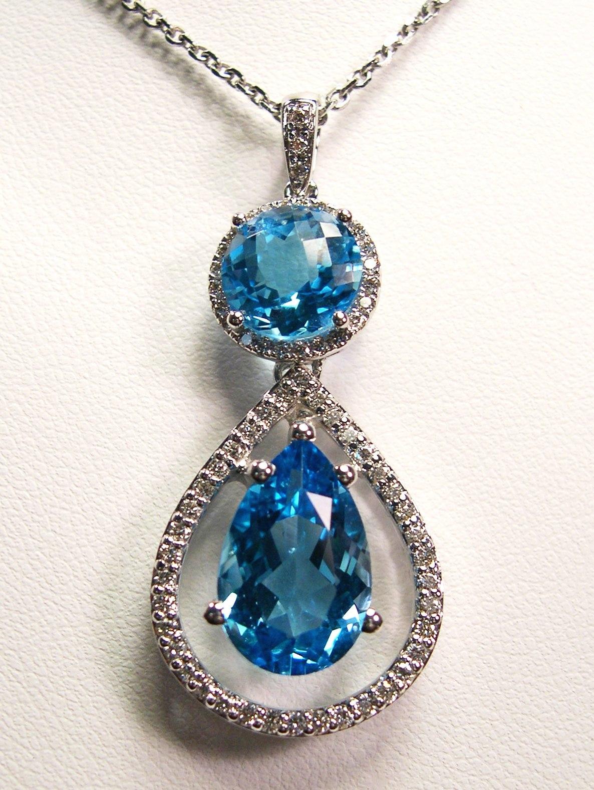 Blue Topaz Drop