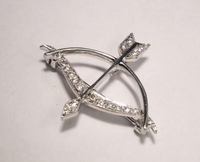 Cupid Diamond Pin
