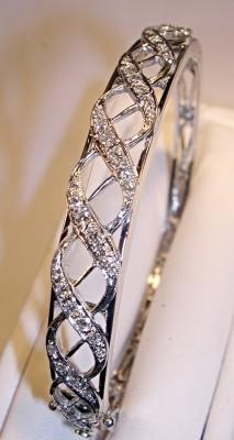 SOLD: Diamond Lace Bangle