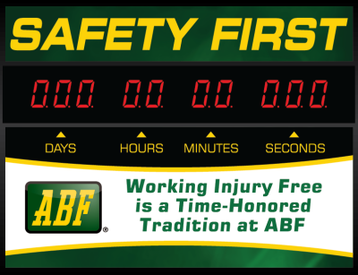 Custom Safety Sign Clock $371 for 3 digit and $431 for 4 digit