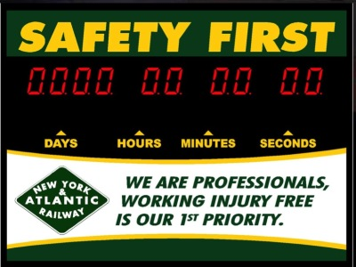 Custom Safety Sign Clock $371