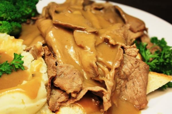 Open Face Roast Beef