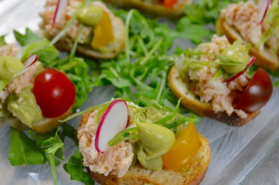 Crab & Avocado  Salad Crostini